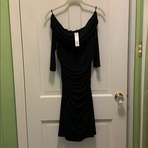 NWT Laundry by Shelli Segal black bodycon dress